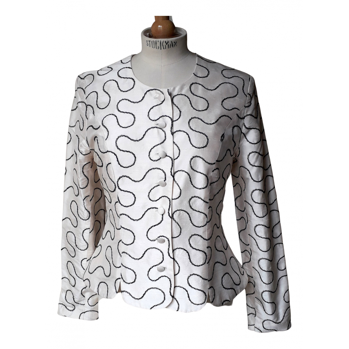 Non Signé / Unsigned \N White Silk jacket for Women 1 0-5