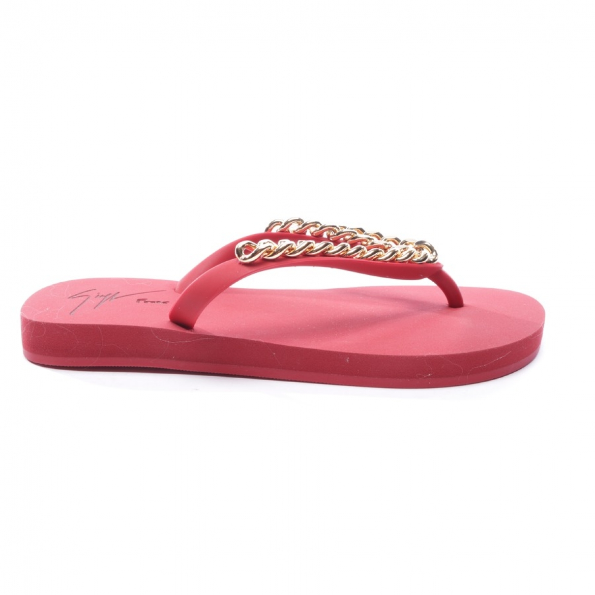 Giuseppe Zanotti \N Red Rubber Sandals for Women 35 EU