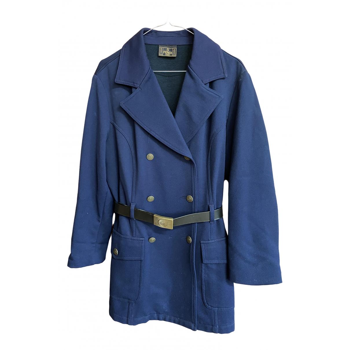 Fendi \N Navy coat for Women 42 IT