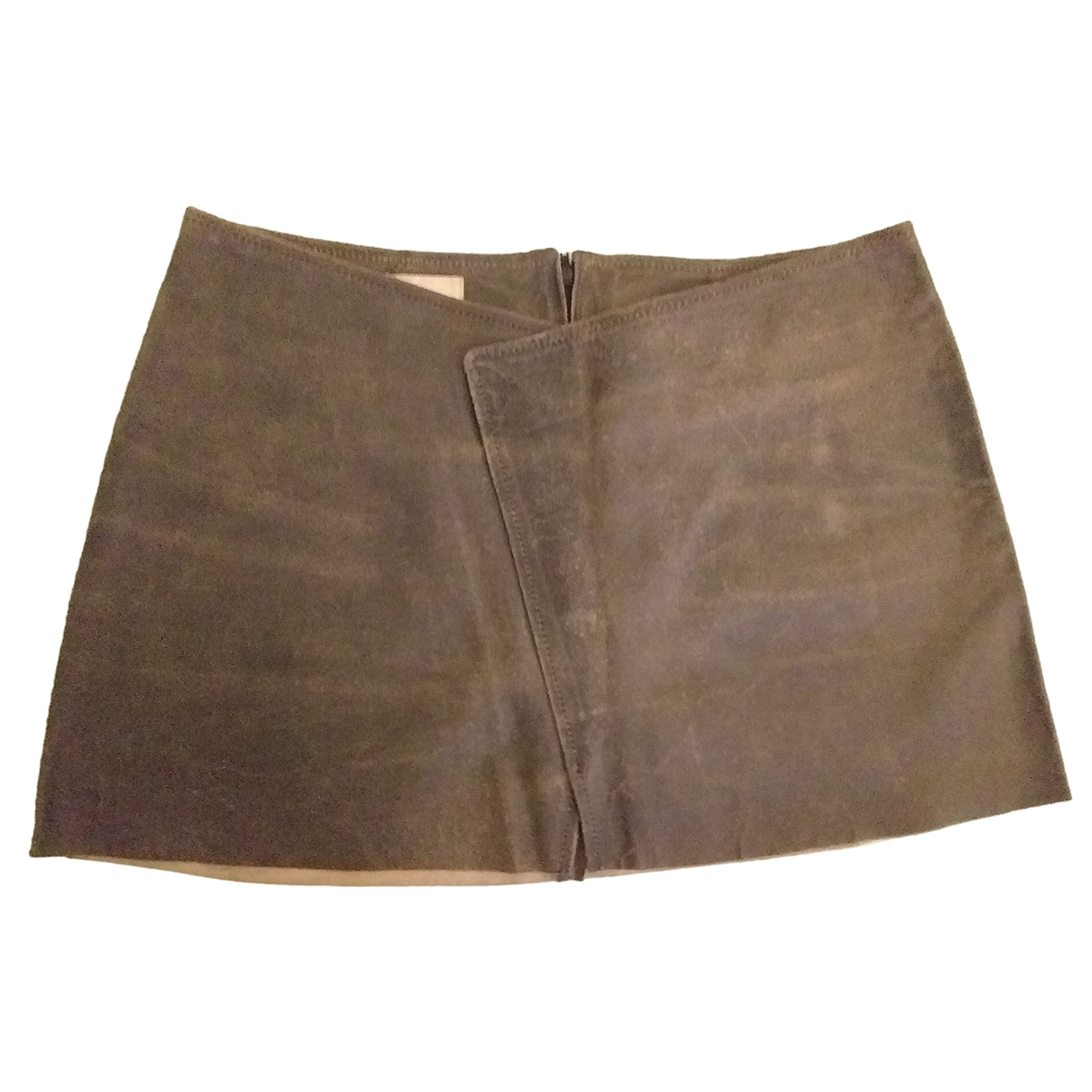 Pinko \N Black Leather skirt for Women 42 IT