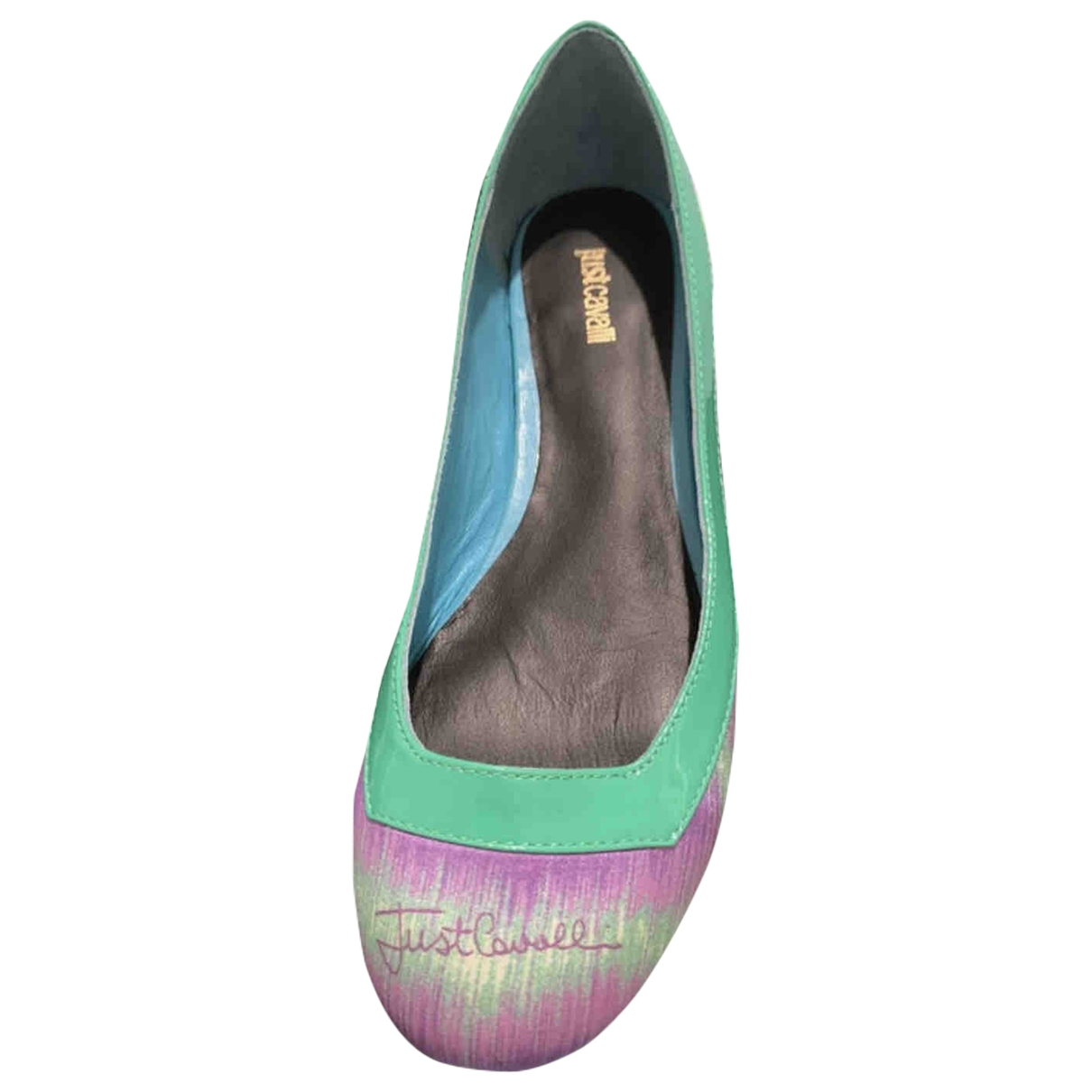 Just Cavalli \N Turquoise Patent leather Ballet flats for Women 36 EU