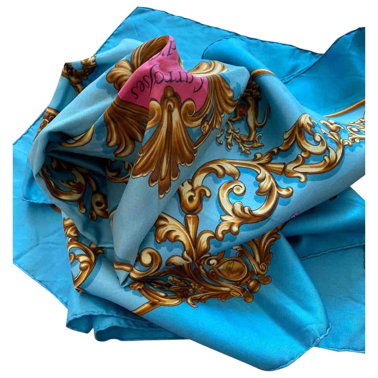Hermès Carré 90 Turquoise Silk Silk handkerchief for Women \N
