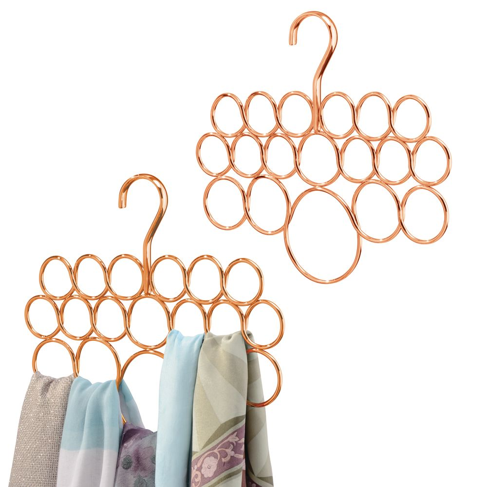 Hanging Accessory and Scarf Holder for Closet in Copper, 11.5