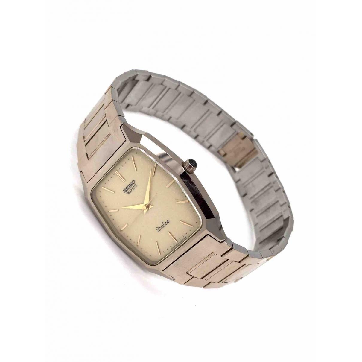 Seiko \N Beige Steel watch for Women \N