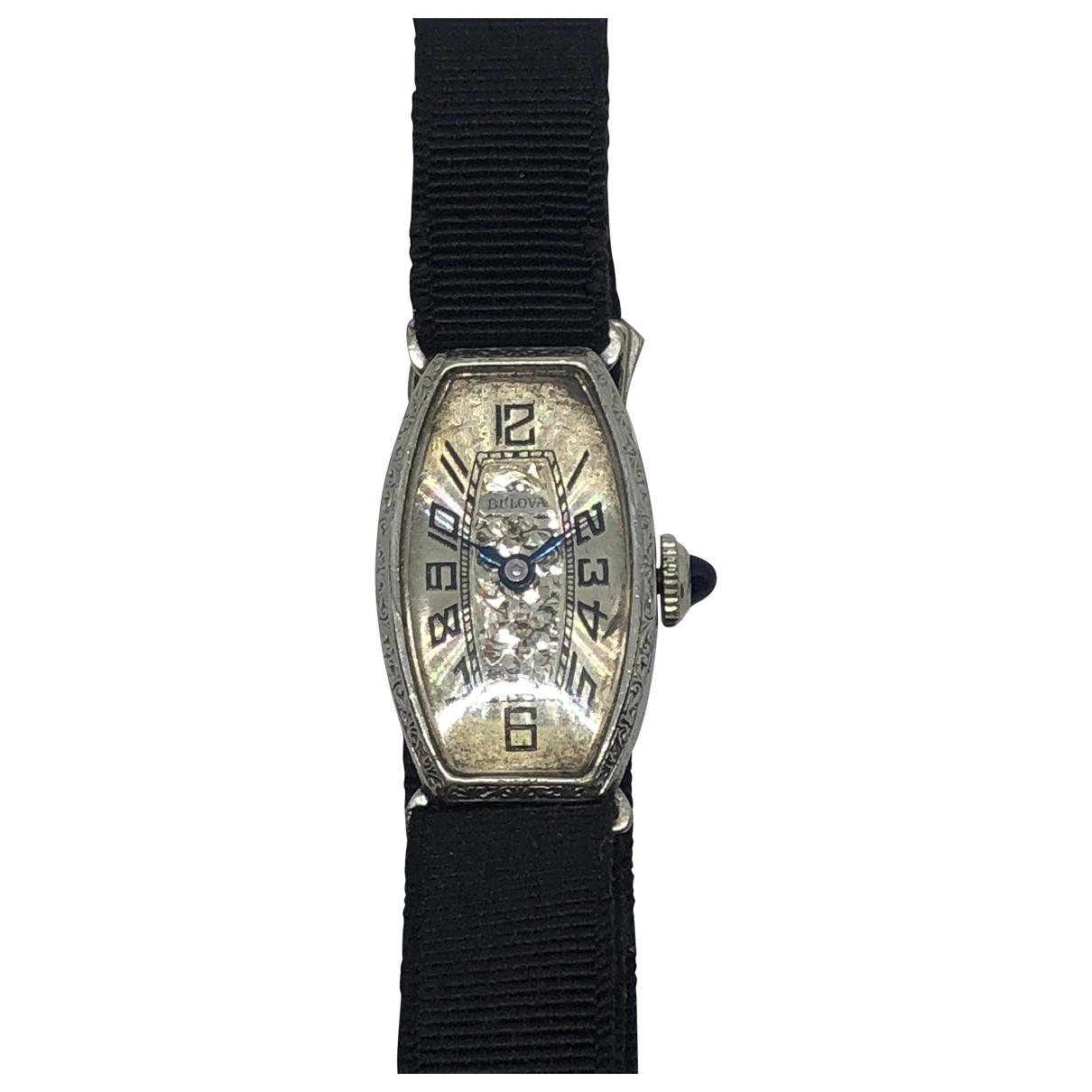 Bulova \N Silver Steel watch for Women \N