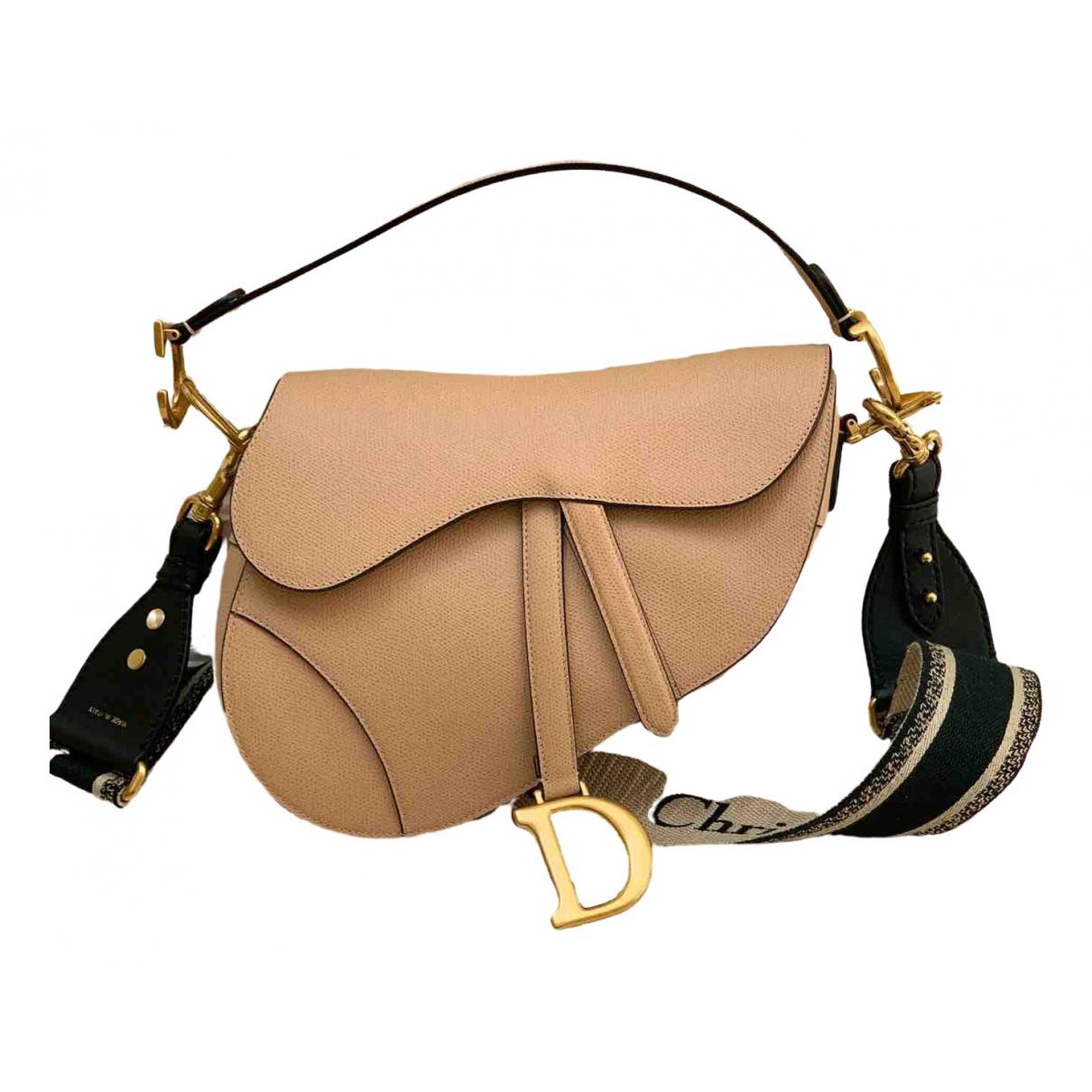 Dior Saddle Pink Leather handbag for Women \N