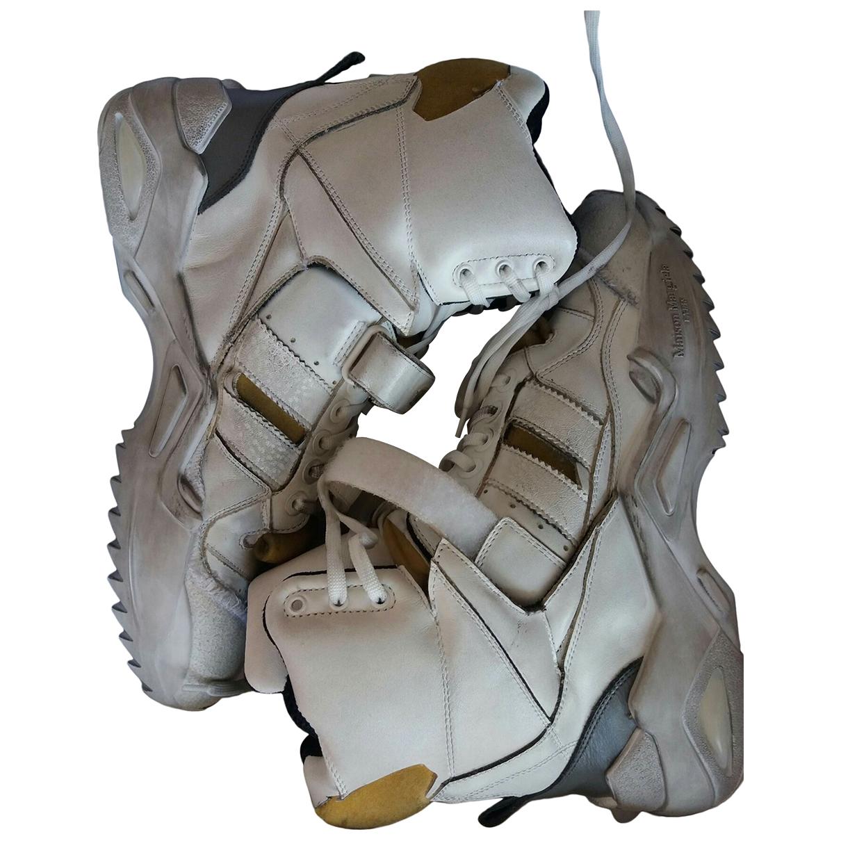 Maison Martin Margiela Retro Fit White Leather Trainers for Men 42 EU