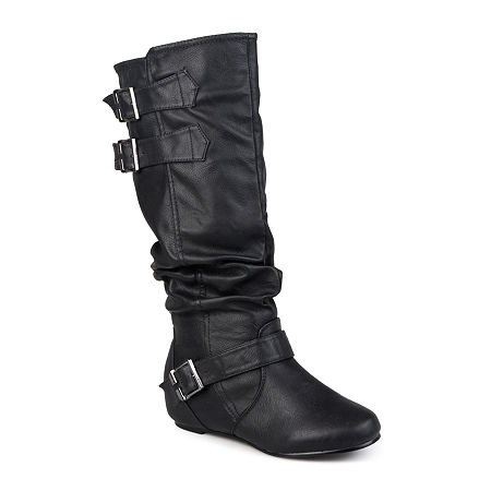 Journee Collection Womens Tiffany Extra Wide Calf Riding Boots, 7 Medium, Black