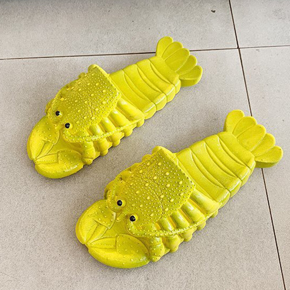Women Lightweight Beach Shrimp Shape Non Slip Slippers
