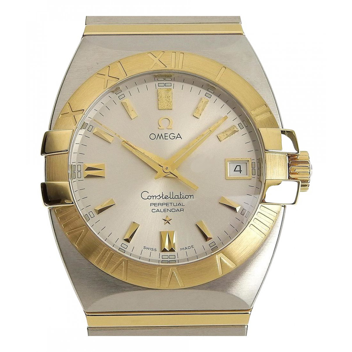 Omega Constellation Silver gold and steel watch for Women \N