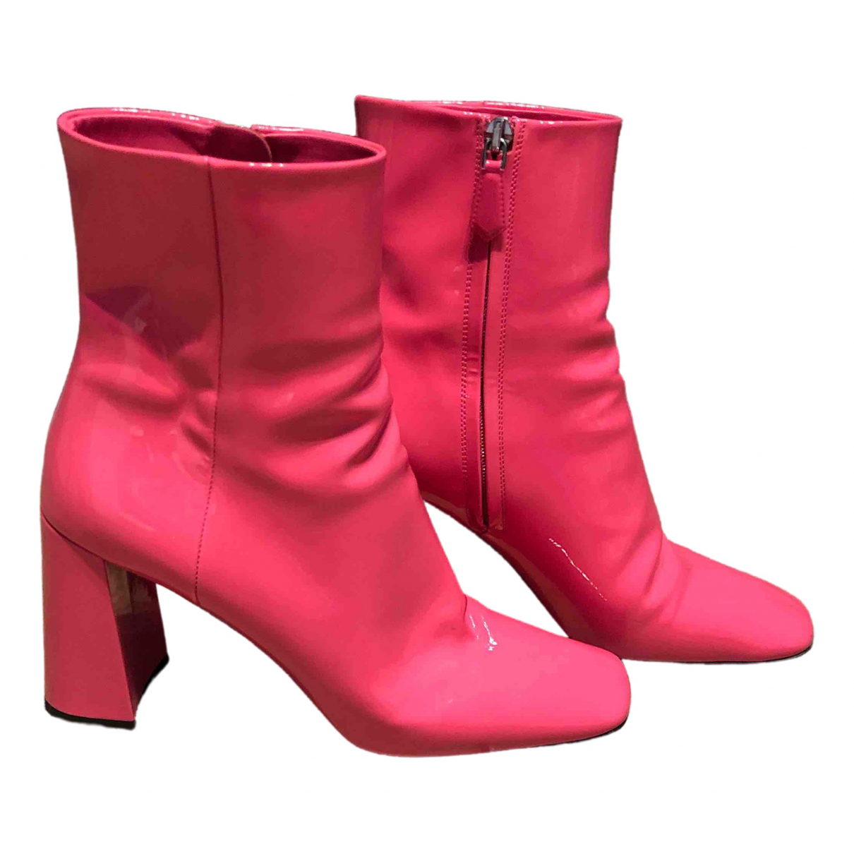 Prada \N Pink Leather Ankle boots for Women 37.5 EU