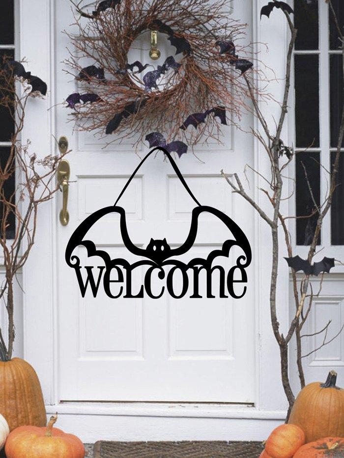 Halloween Bat Welcome Non-woven Door Hanging Decor