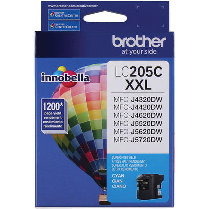 Brother LC205C Original Cyan Ink Cartridge Extra High Yield