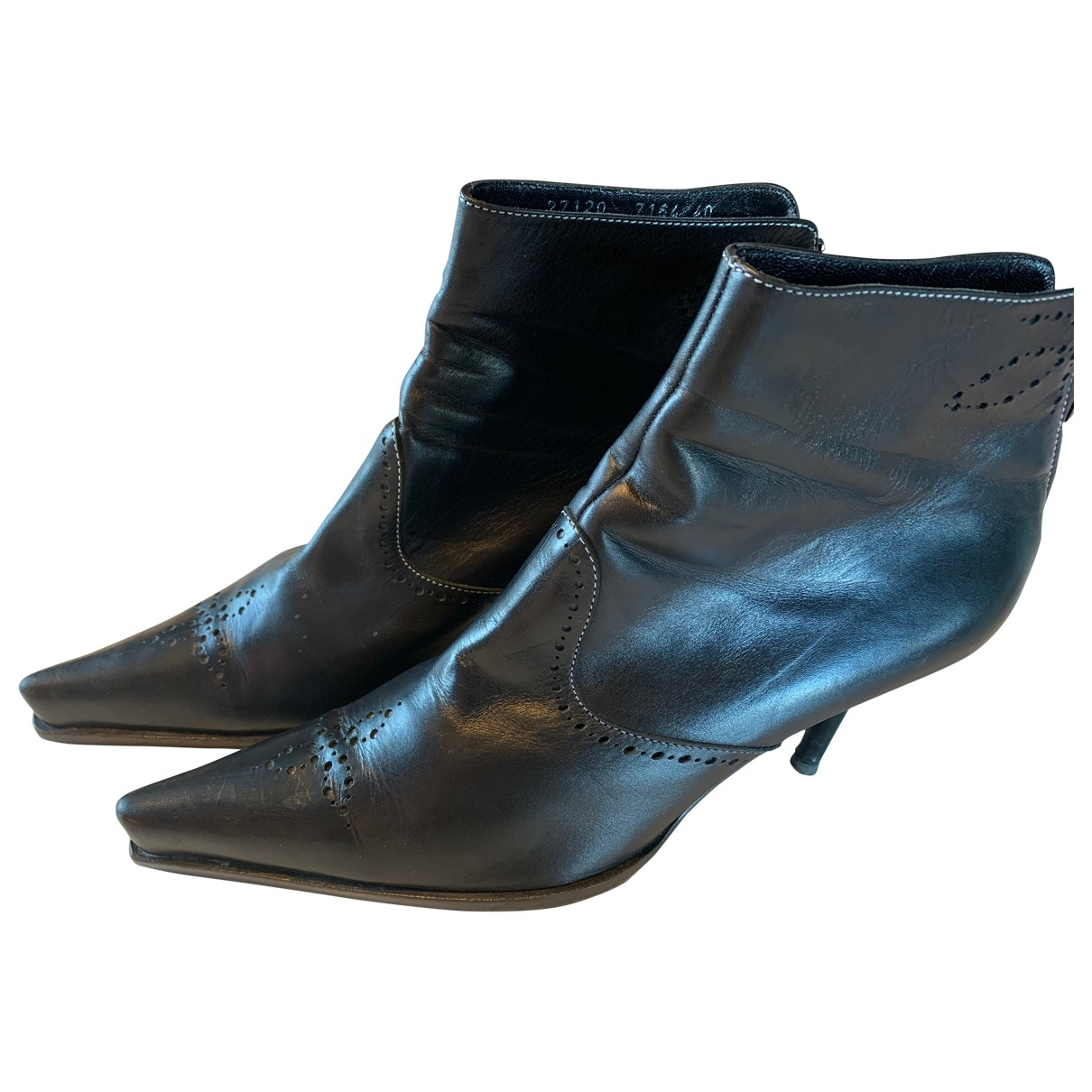 Sergio Rossi \N Black Leather Ankle boots for Women 40 EU