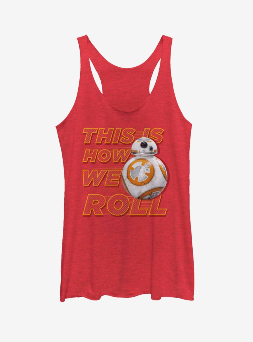 Star Wars: The Force Awakens This Is How We Roll Front Womens Tank Top