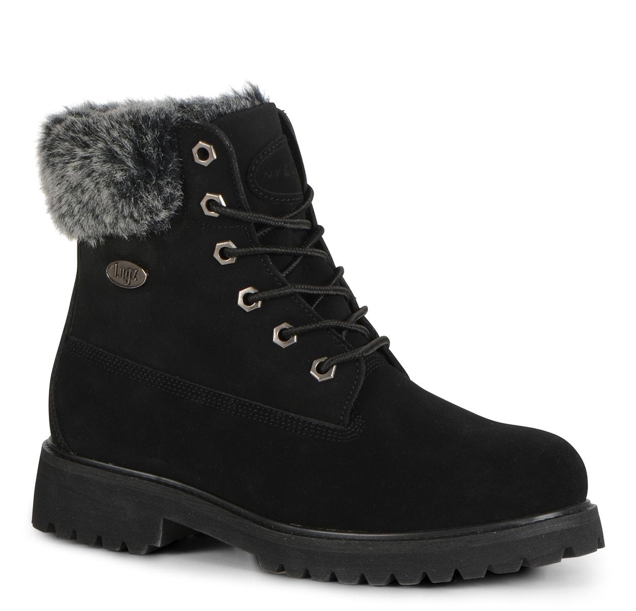 Women's Convoy Fur 6 Inch Boot (Choose Your Color: BLACK, Choose Your Size: 8.0)