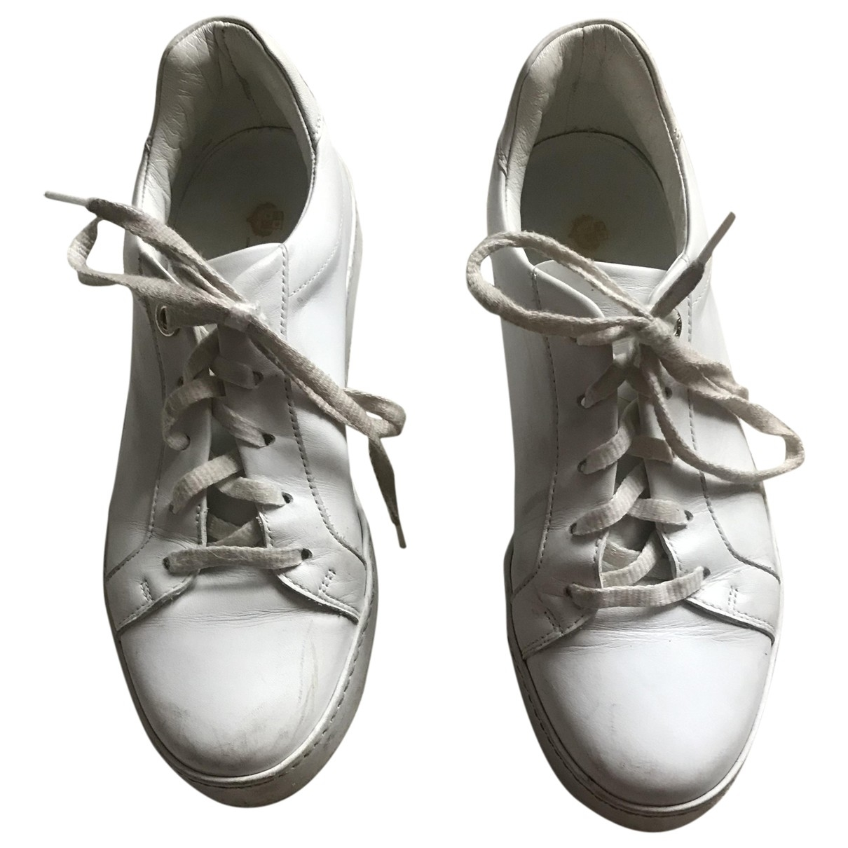 Loro Piana \N White Leather Trainers for Women 38 EU