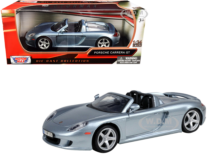 Porsche Carrera GT Gray 1/24 Diecast Model Car by Motormax