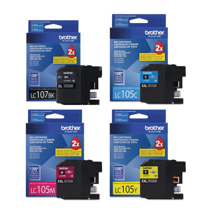 Brother MFC-J4310DW Original Ink Cartridges Black/Cyan/Magenta/Yellow 4-Pack Combo, Super High Yield