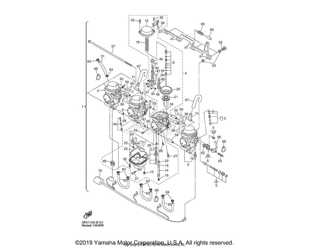 Yamaha OEM 8FA-81517-00-00 WIRE, SUB LEAD
