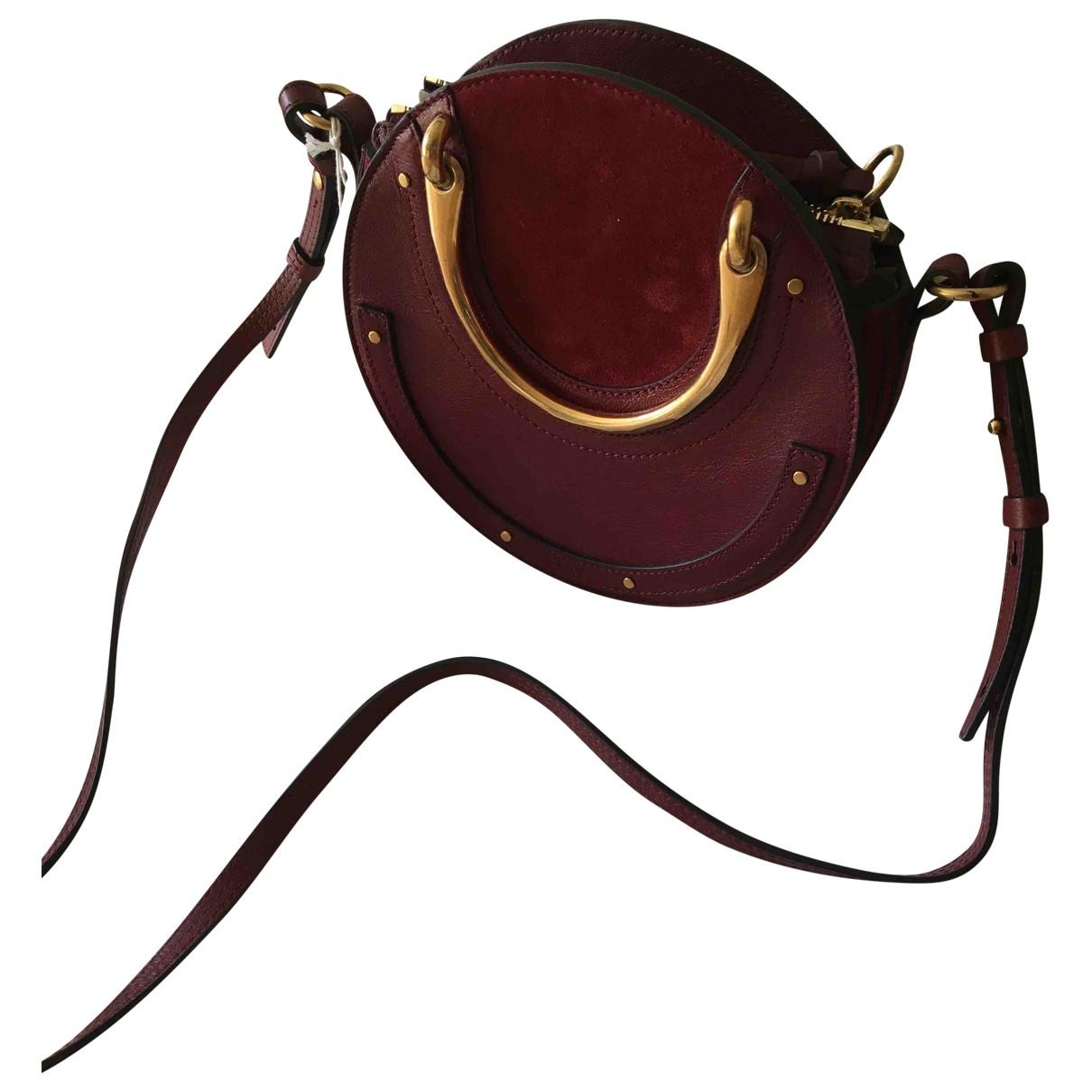 Chloé Pixie Burgundy Leather handbag for Women \N