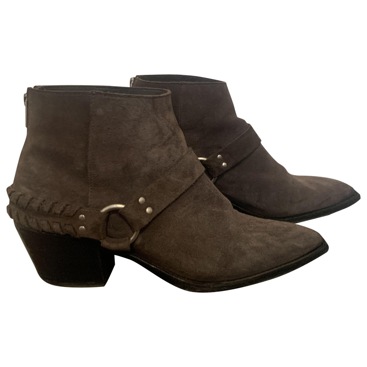 All Saints \N Grey Suede Boots for Women 40 EU
