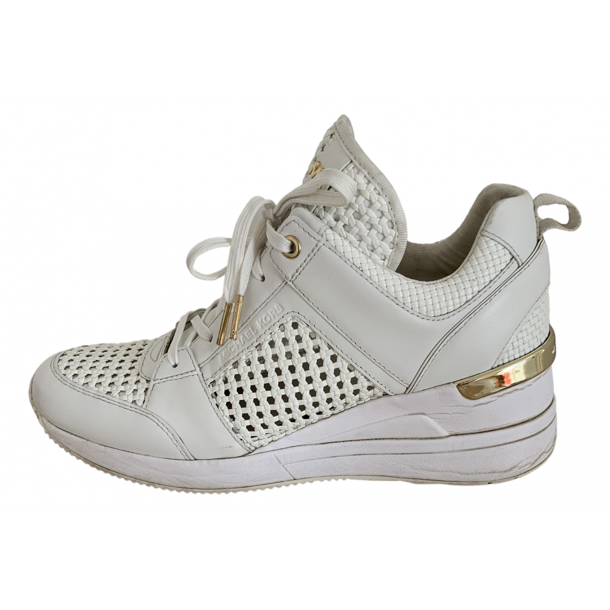 Michael Kors \N White Leather Trainers for Women 9 US