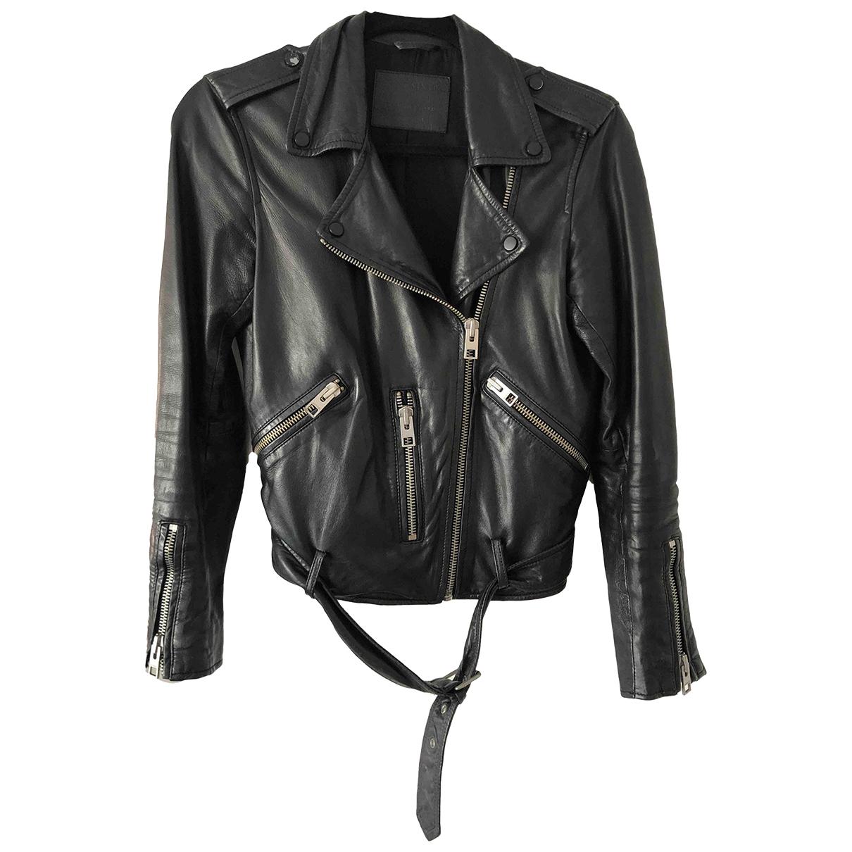 All Saints \N Black Leather jacket for Women 4 US