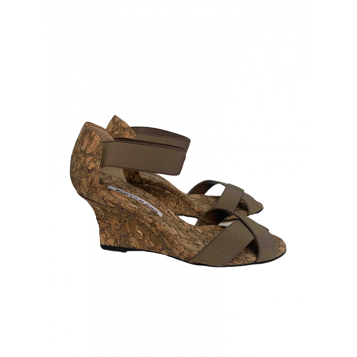 Manolo Blahnik \N Beige Cloth Sandals for Women 36 EU