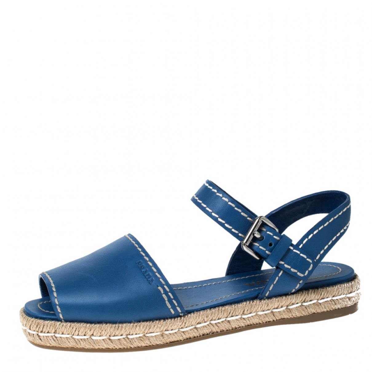 Prada \N Blue Leather Sandals for Women 8.5 US