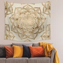 Lotus Print Tapestry