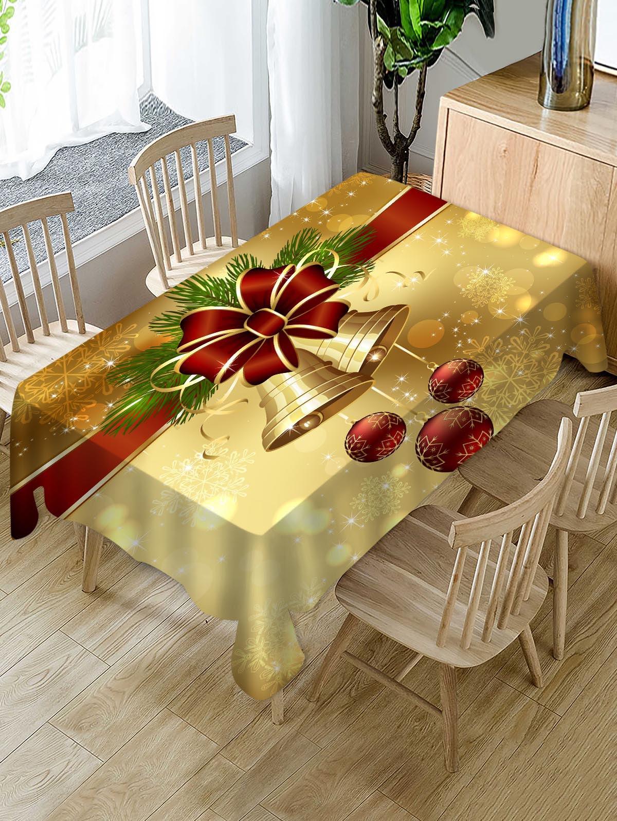 Christmas Bell Fabric Table Cloth
