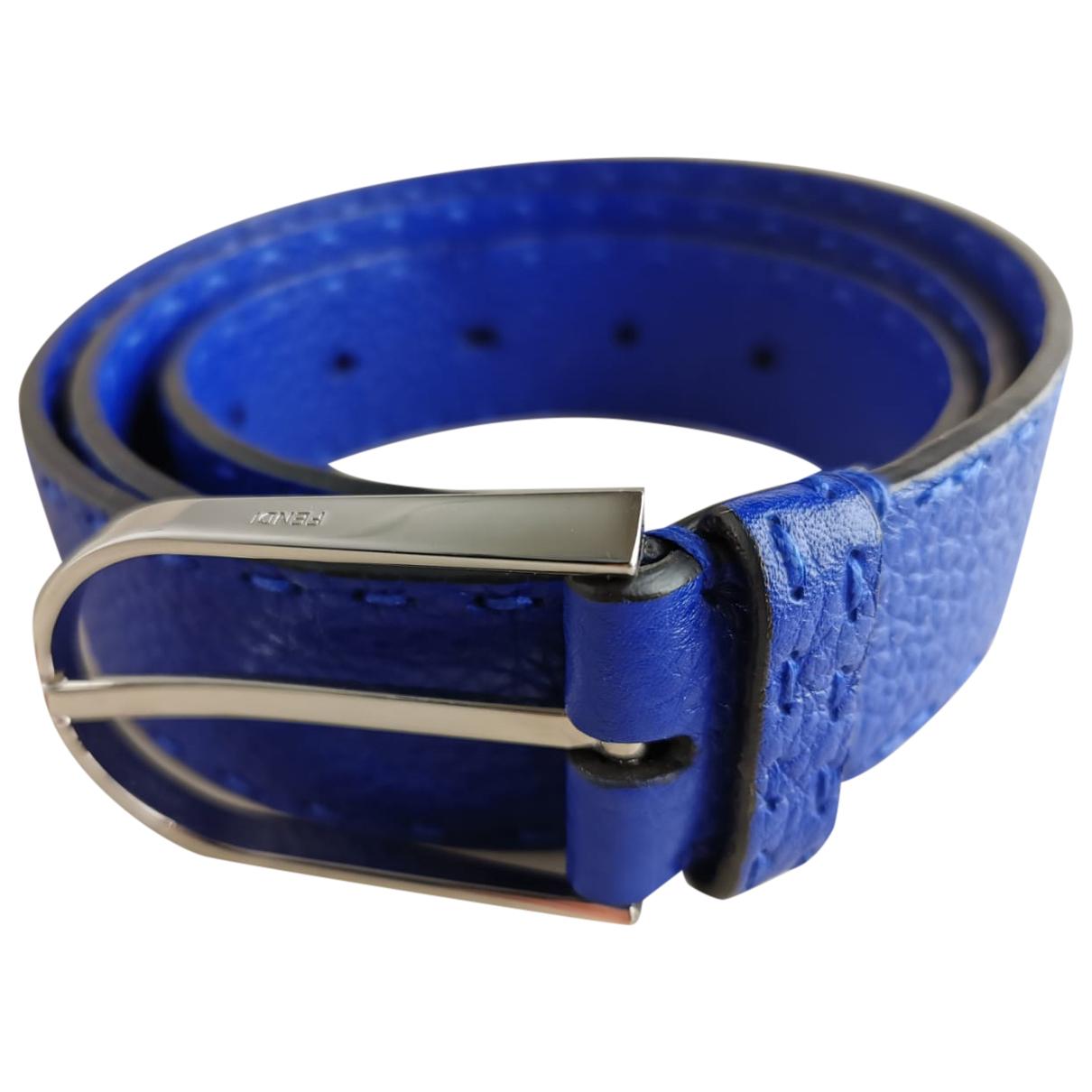 Fendi \N Blue Leather belt for Men 95 cm