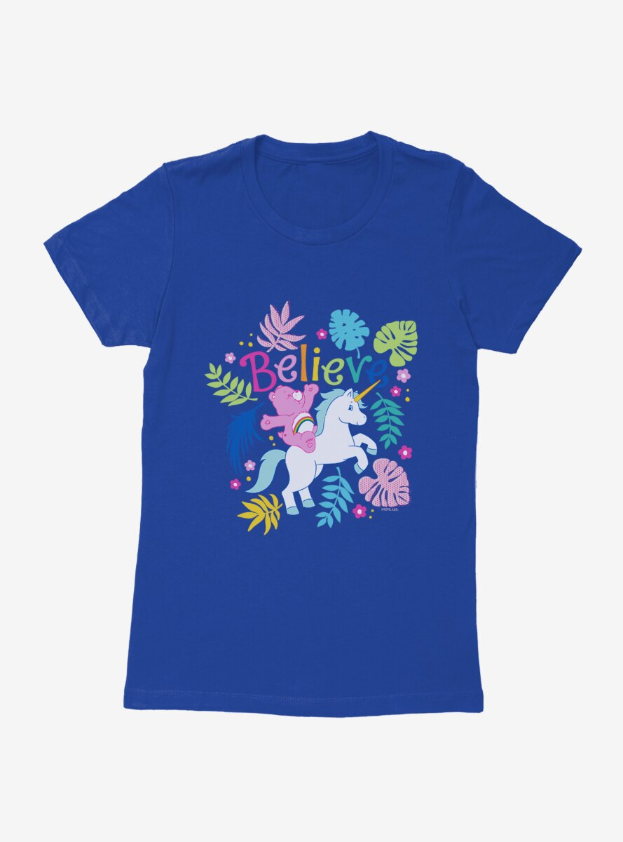 Care Bears Cheer Unicorn Believe Womens T-Shirt