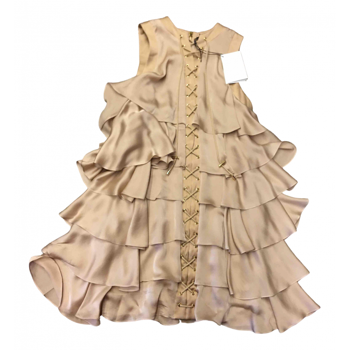 Balmain \N Beige Silk dress for Women 40 IT
