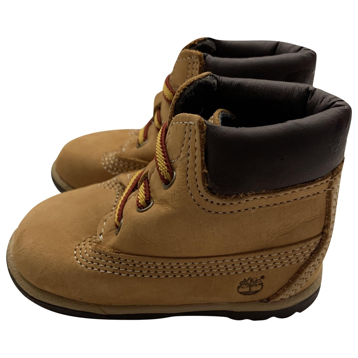 Timberland \N Camel Leather First shoes for Kids 18 EU