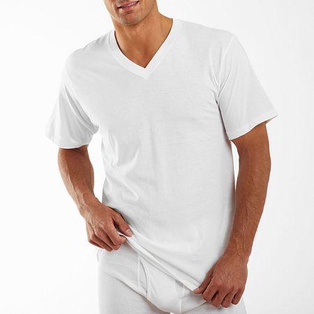 Jockey 3 Pack Classic V-Neck T-Shirt - Men's, Xx-large , White