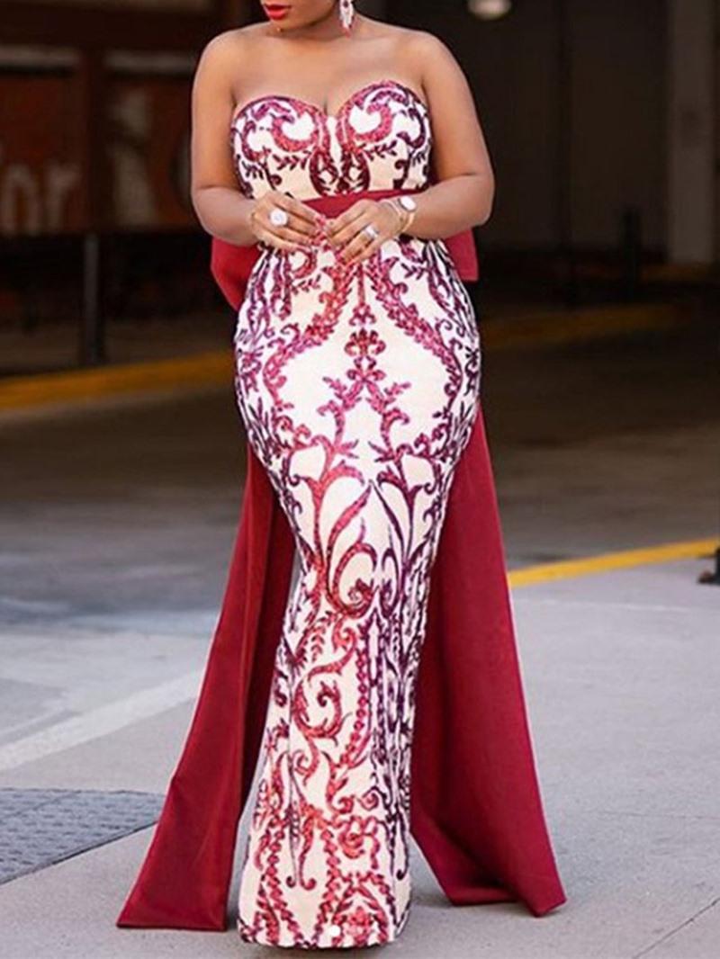 Ericdress Sleeveless Patchwork Floor-Length Pullover Fashion Dress