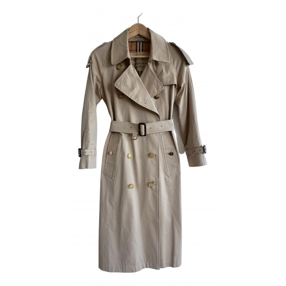 Burberry \N Beige Cotton Trench coat for Women 4 UK