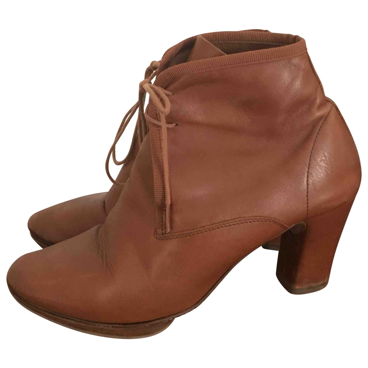 Repetto \N Camel Leather Ankle boots for Women 37 EU