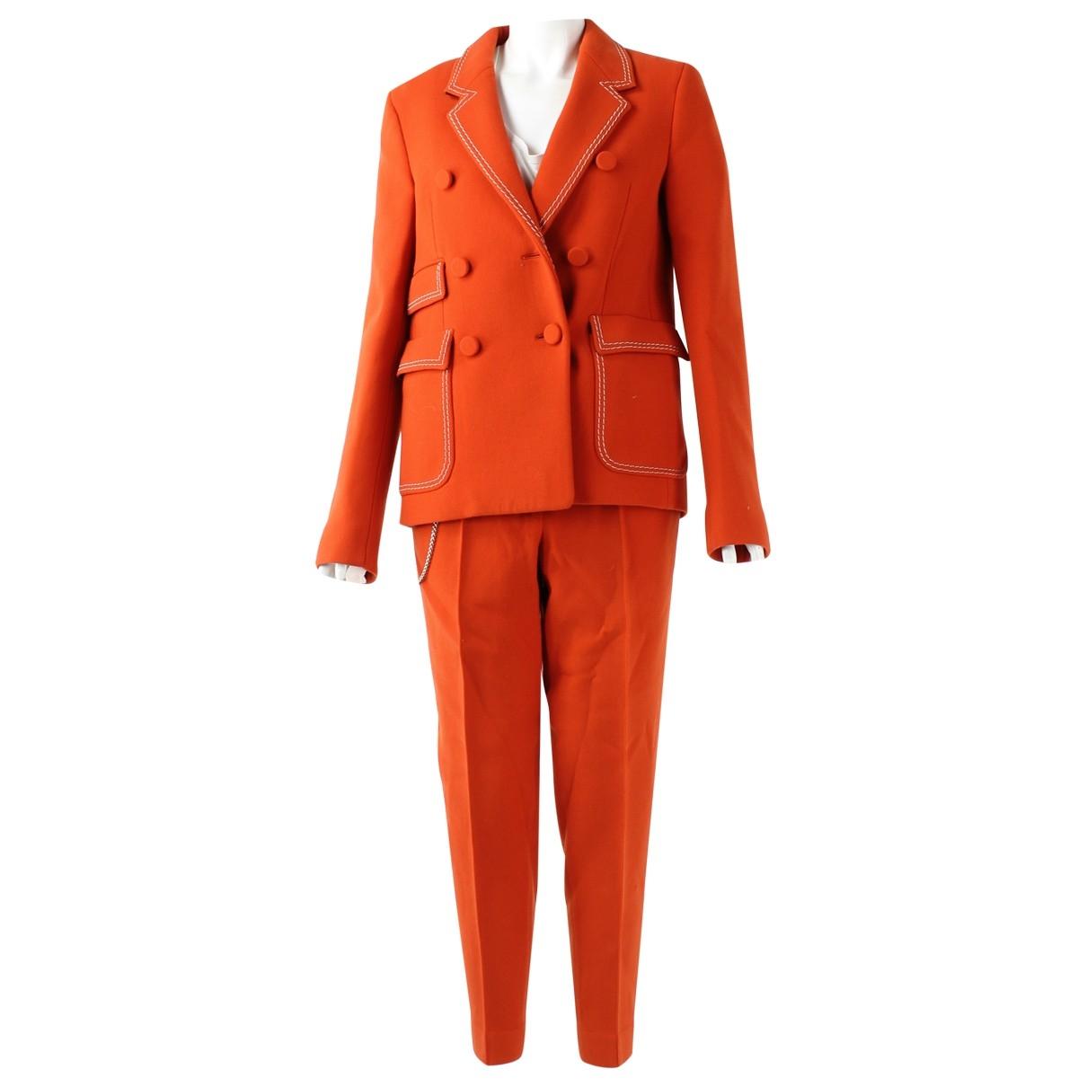 Bottega Veneta \N Orange Wool jumpsuit for Women 38 FR