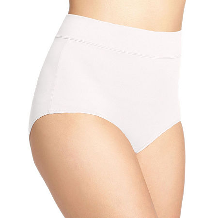 Warner's No Pinching. No Problems. Tailored Microfiber Brief Panty 5738, 8 , White