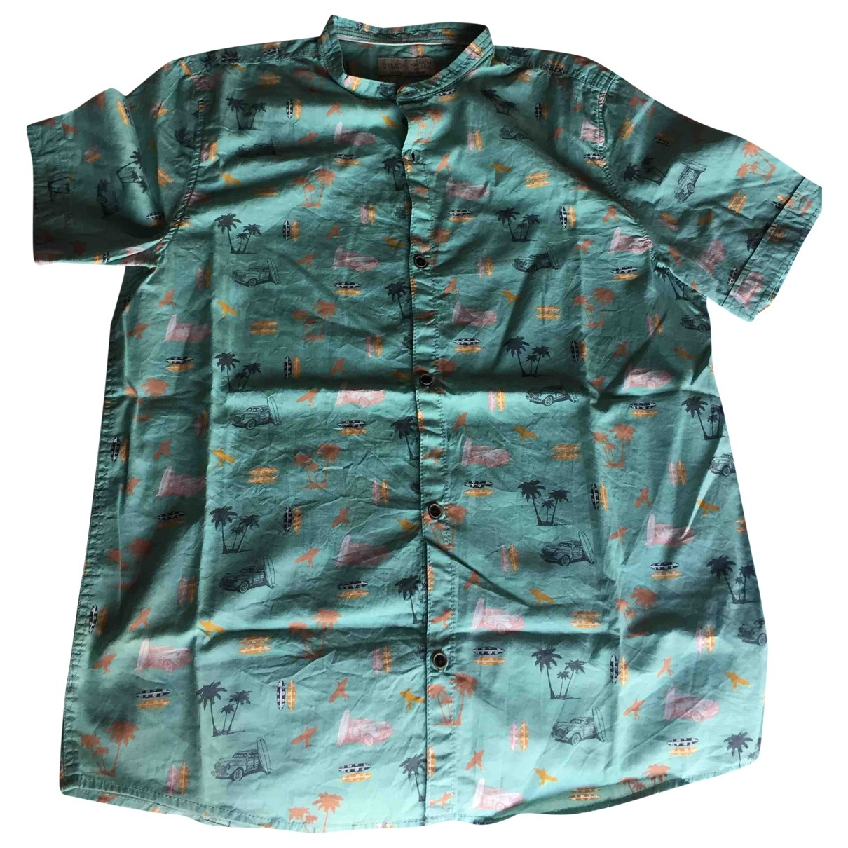 Zara \N Green Cotton  top for Kids 14 years - S FR