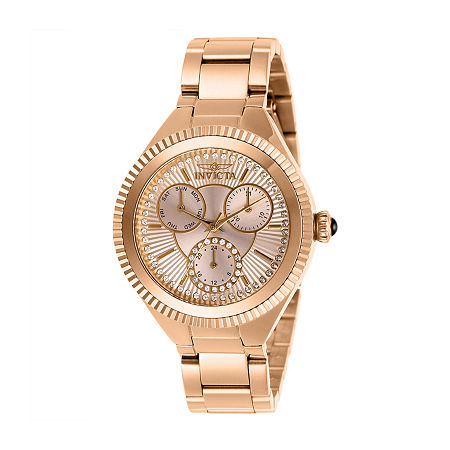 Invicta Angel Womens Rose Goldtone Stainless Steel Bracelet Watch-28346, One Size , No Color Family