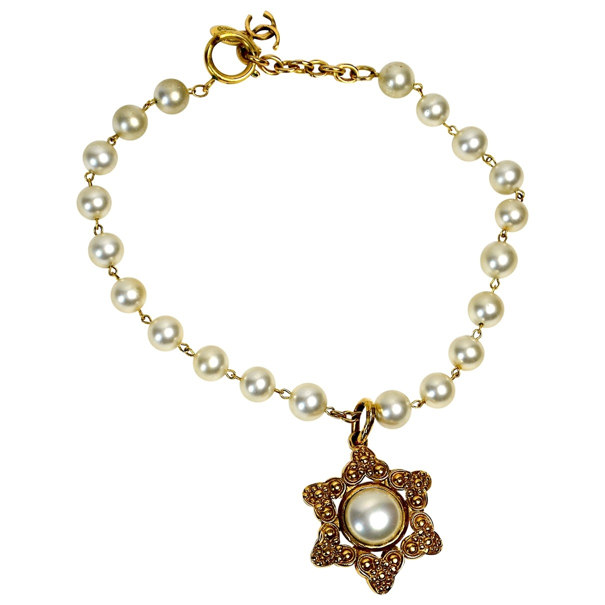 Chanel \N Gold Pearls necklace for Women \N