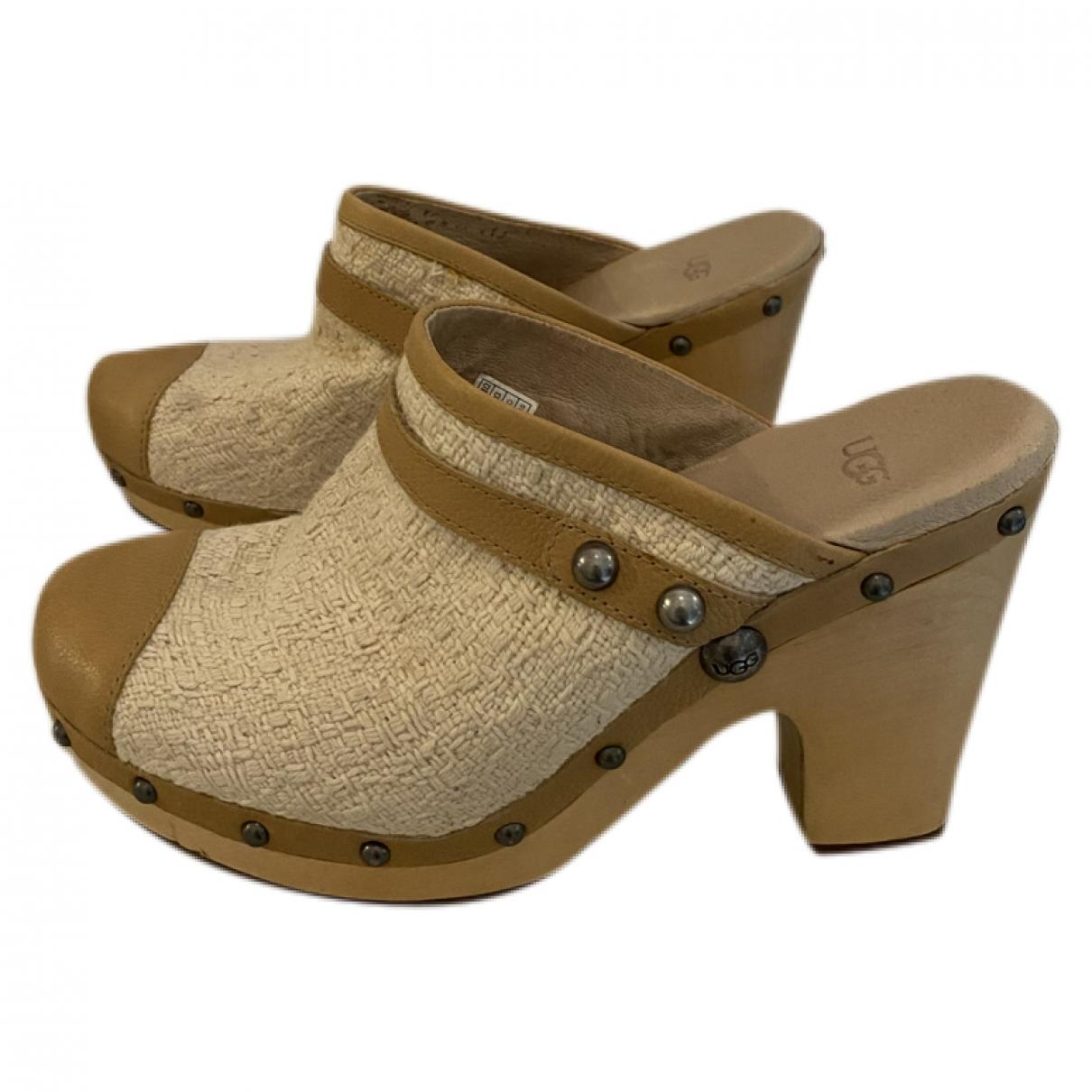 Ugg \N Beige Tweed Mules & Clogs for Women 40 EU