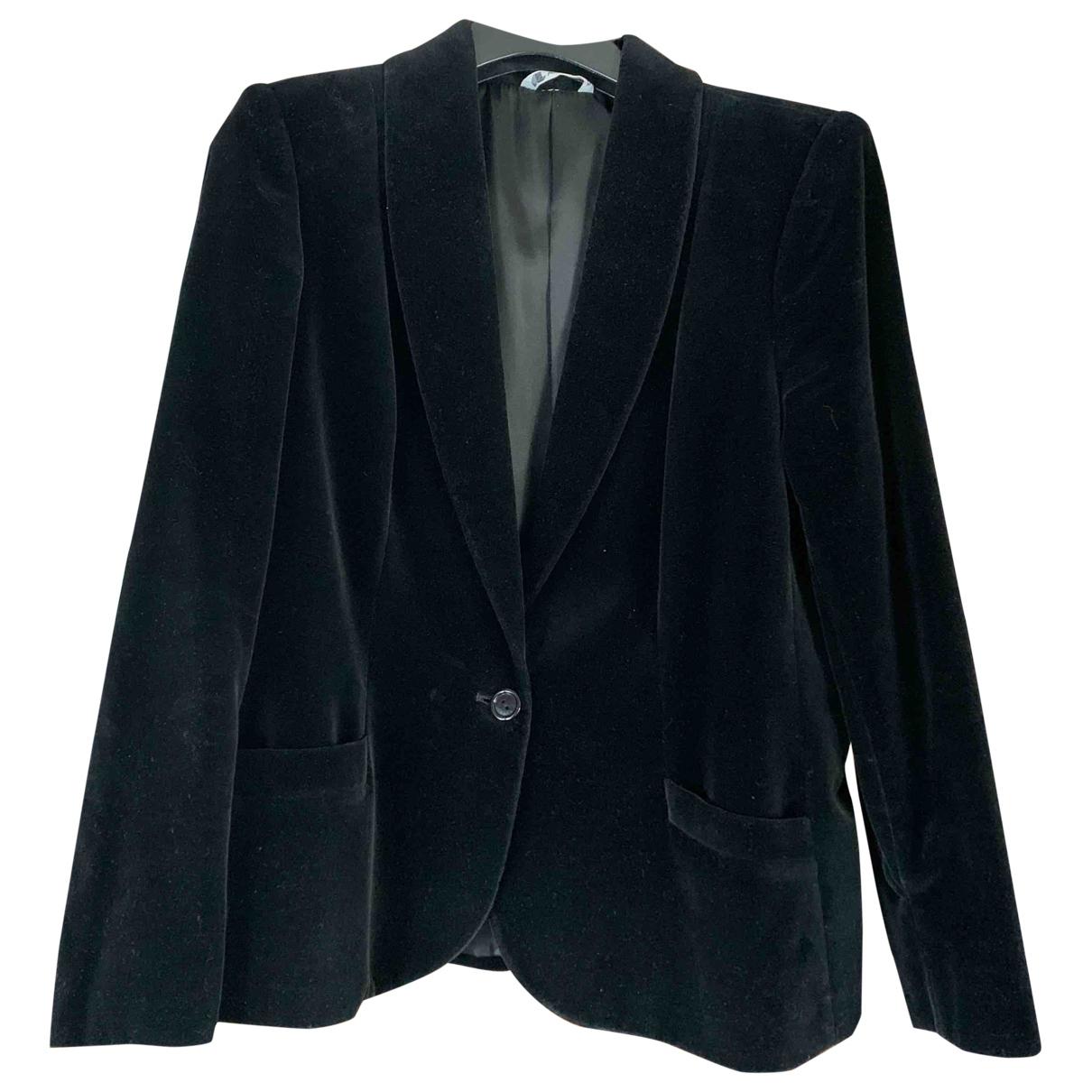 Non Signé / Unsigned \N Black Velvet jacket for Women 38 FR