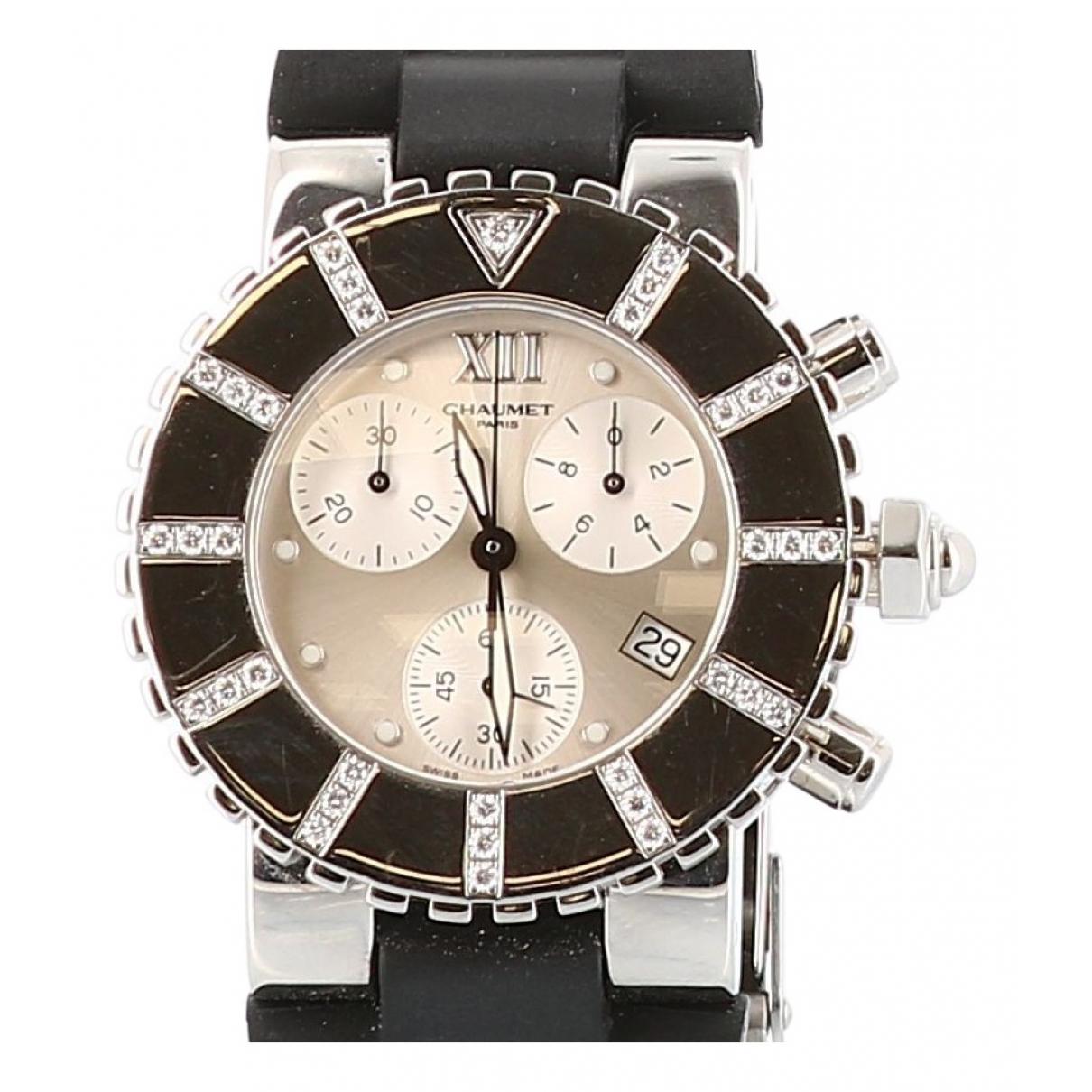 Chaumet \N Black Steel watch for Women \N