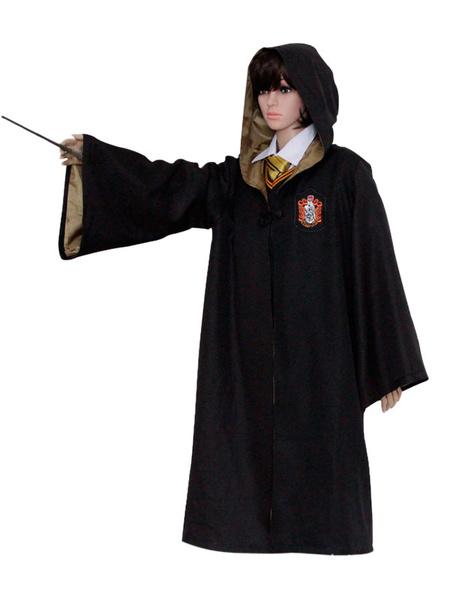 Milanoo Harry Potter Cosplay Costume Uniform Hooded Cloak Robe Halloween