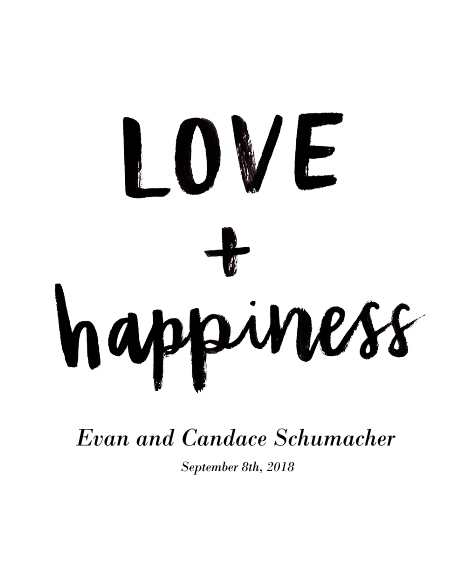Love Canvas Print, 16x20, Home Décor -Love Happiness